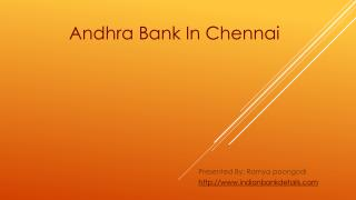 Andhra Bank in Chennai