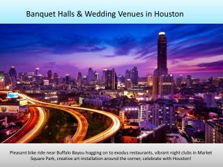 Banquet halls, party halls, wedding venues in Houston TX