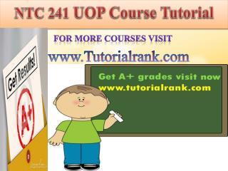NTC 241 UOP course tutorial/tutoriarank