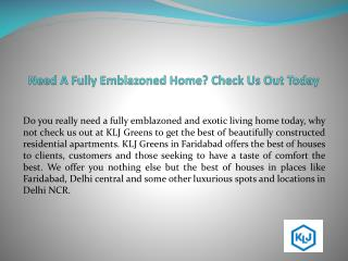 KLJ Developers in Faridabad! Get Affordable residential Homes Today