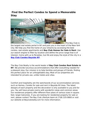 Bay Club Condos Homes for Sale