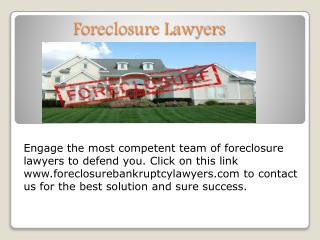 Foreclosure lawyers