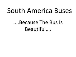 South America Buses