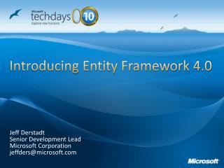 Introducing Entity Framework 4.0