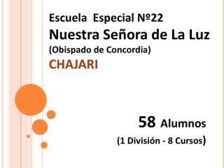 Escuela  Especial N 22  Nuestra Se ora de La Luz Obispado de Concordia  CHAJARI