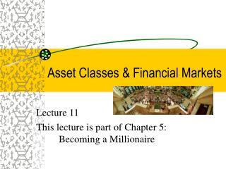 Asset Classes  Financial Markets