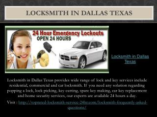 lLocksmith in Dallas Texas