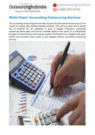 White Paper- Accounting Outsourcing Services