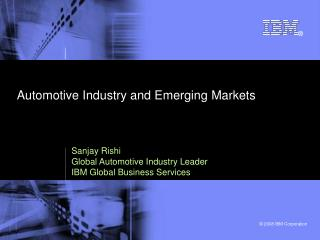 Automotive Industry and Emerging Markets