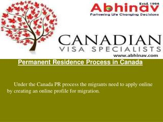 Permanent Residence Process in Canada