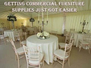 Getting Commercial Furniture Supplies Just Got Easier