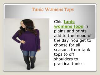Tunic womens tops