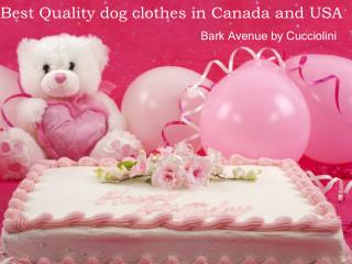 Best Quality dog clothes in Canada