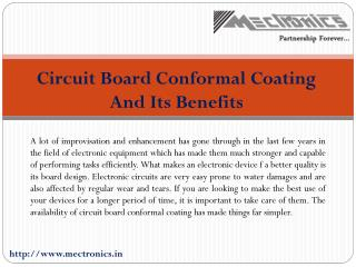 Circuit Board Conformal Coating