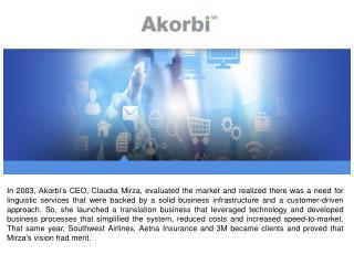 Akorbi Document Translation Services