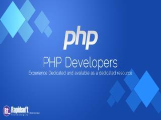 Benefit of php web app development