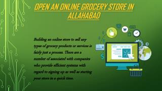 Open an online grocery store in Allahabad