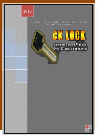 Locksmith Service Need To Be Investigated A Litle Bit Deeply Before Hiring