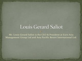 Louis Gerard Saliot  | Living legend of Fiji tourism! (EAM Group)