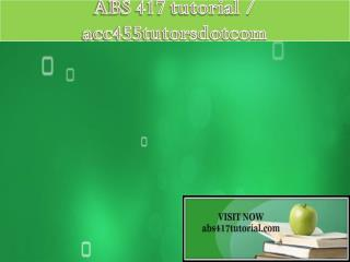 ABS 417 tutorial / abs417tutorialdotcom