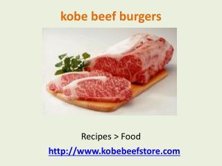 american wagyu kobe beef burgers