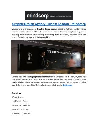 Graphic Design Agency Fulham London - Mindcorp