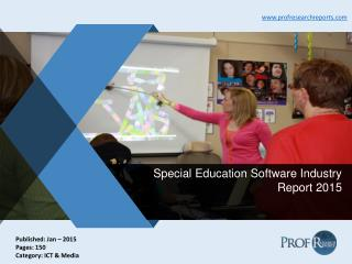 Global and Chinese Special Education Software Industry Growth, Market Technology 2015