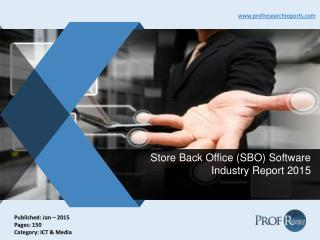 Store Back Office (SBO) Software Industry Capacity, Market Import and Export 2015