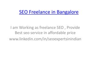SEO expert  Bangalore India