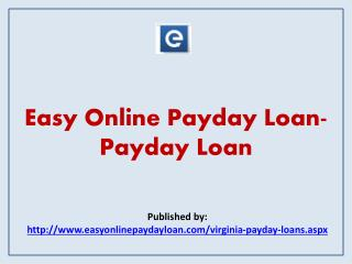 Easy Online Payday Loan- Payday Loan