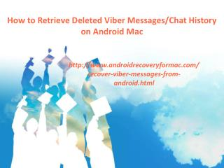 How to Retrieve Deleted Viber Messages/Chat History on Android Mac