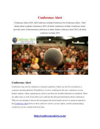 Conference Alert