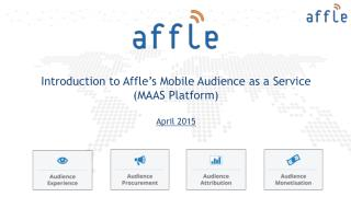 Affle - Mobile Audience as a Service Platform