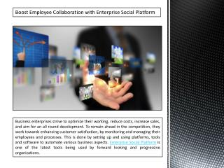 Boost Employee Collaboration with Enterprise Social Platform