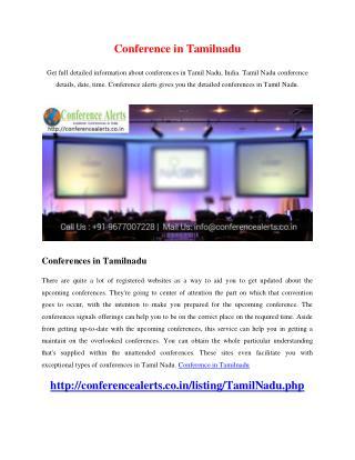 Conference in Tamilnadu