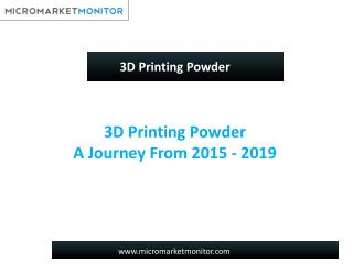 3D Printing Powder Market-Global Forecast to 2020