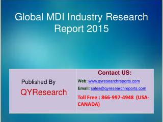 Global MDI Market 2015 Industry Analysis, Research, Share, Trends and Growth