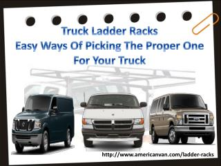 Truck Ladder Racks�Easy Ways Of Picking The Proper One For Your Truck