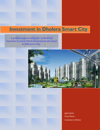 Investment in Dholera Smart City