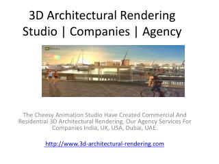 3D Architectural Rendering Studio | Companies | Agency