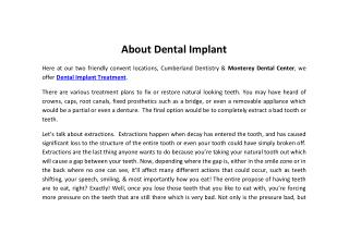 About dental implant