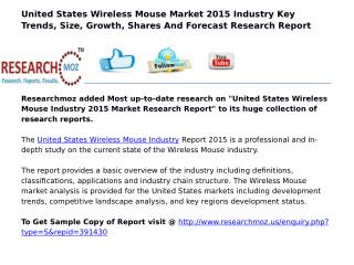 United States Wireless Mouse Industry 2015 Market Research Report