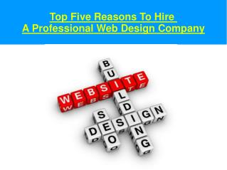 Most Important Reasons To Choose  A Web Design Company