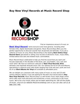 Buy Vinyl Online