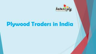 Plywood traders in India