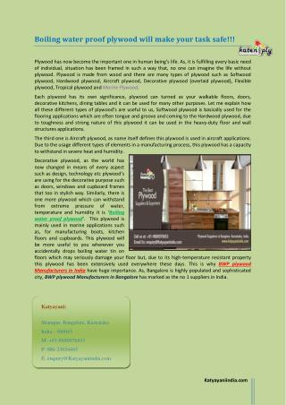 Boiling water proof plywood will make your task safe!!!.pdf