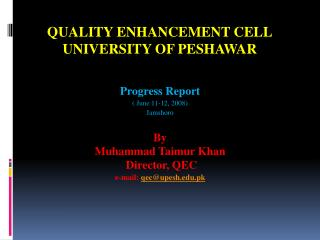 Quality Enhancement Cell University of Peshawar