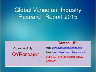 Global Vanadium Industry 2015 Market Growth, Insights, Shares, Analysis, Study, Research and Development