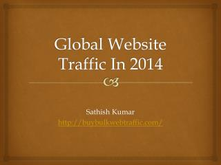 Website Traffic For The Year 2014