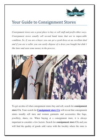Consignment Store CA